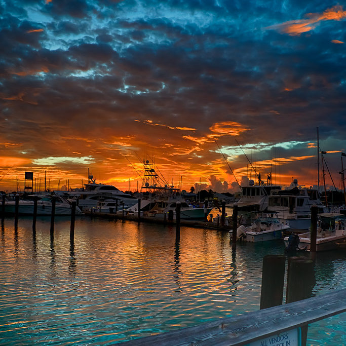 """A view from the dock at the Key West Bight."""